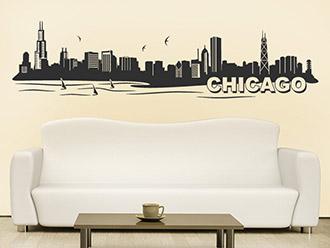 Skyline von Chicago als Wandtattoo