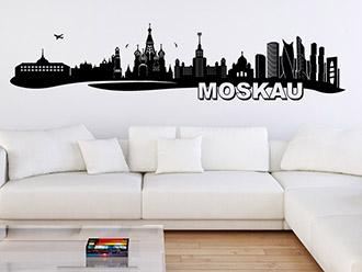 Moskau Skyline als Wandtattoo