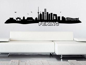 Skyline von Peking als Wandtattoo