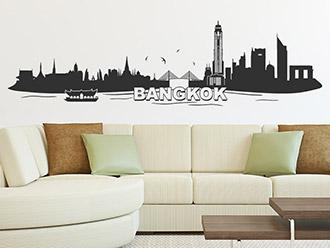Bangkok Skyline als Wandtattoo