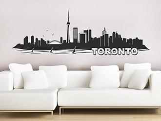 Wandtattoo mit der Skyline von Toronto