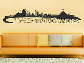 Skyline von Rio de Janeiro als Wandtattoo