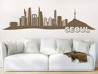 Skyline von Seoul als Wandtattoo