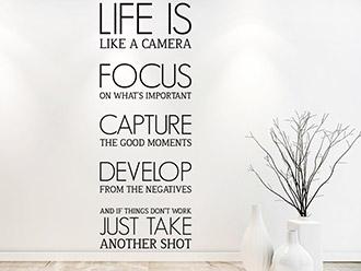 Wandtattoo Life is like a camera