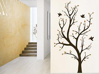 Wandtattoo Zweifarbiger Baum