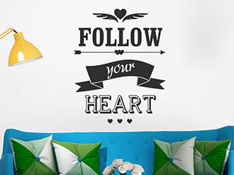 Wandtattoo Follow your heart