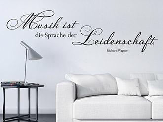 Wandtattoo Musik ist die Sprache...