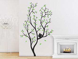 Wandtattoo Baum mit Eichhörnchen