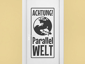 Wandtattoo Parallelwelt
