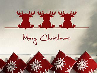 Wandtattoo 3 Weihnachtselche