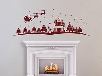 Wandtattoo Weihnachtsmotiv