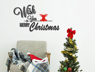 Wandtattoo Wish You a Merry Christmas