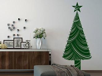Wandtattoo Dekorativer Tannenbaum
