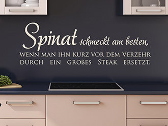 Wandtattoo Spinat