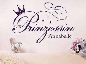 Wandtattoo Prinzessin mit Wunschname