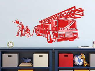 Wandtattoo Feuerwehr