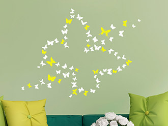 Wandtattoo Zweifarbiger Schmetterling