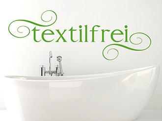 Wandtattoo Textilfrei