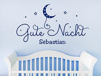 Wandtattoo Gute Nacht mit Wunschname