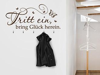 Garderobe Tritt ein...