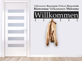 Garderobe Willkommen Sprachen