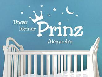 Wandtattoo Kleiner Prinz mit Name