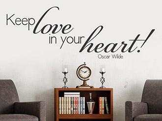 Wandtattoo Keep love...