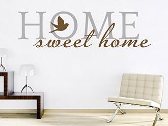 Wandtattoo Sweet Home zweifarbig