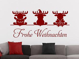 weihnachtsdeko bei weihnachten wandtattoos. Black Bedroom Furniture Sets. Home Design Ideas