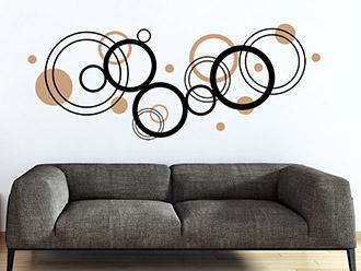 Wandtattoo Ornament Moderne Kreise