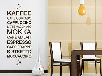 Wandtattoo Kaffee modern