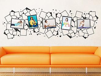 Wandtattoo Design Fotorahmen