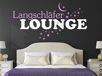Wandtattoo Langschläfer Lounge