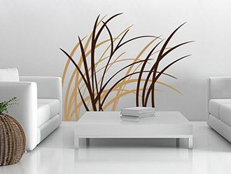 Wandtattoo gr ser gras deko zur wandgestaltung - Zweifarbige wandgestaltung ...