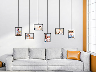 Wandtattoo Modernes Fotorahmen Set