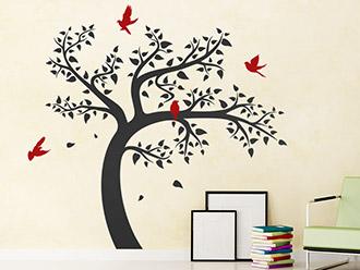 Wandtattoo Lebendiger Baum
