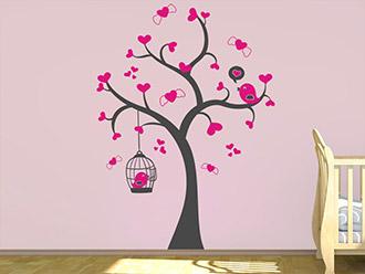 Wandtattoo Herziger Baum