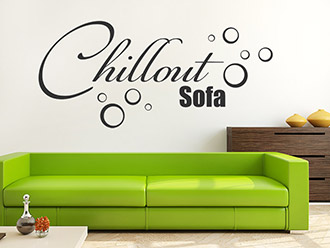 Wandtattoo Chillout Sofa