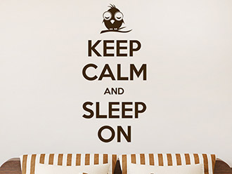 Wandtattoo Keep calm and sleep on