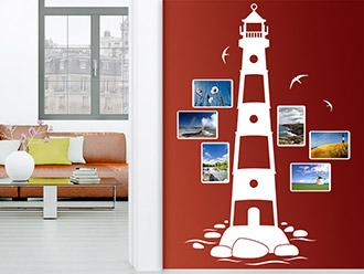 Wandtattoo Fotorahmen Leuchtturm
