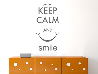 Wandtattoo Keep calm and smile