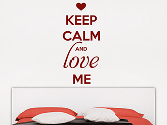 Wandtattoo Keep calm and love me