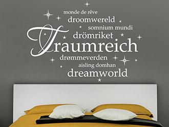 Wandtattoo Traumreich Sprachen