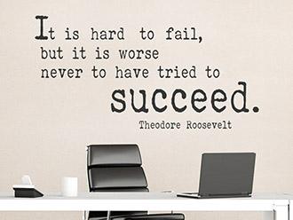 Wandtattoo Hard to fail