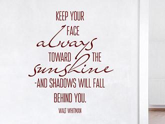 Wandtattoo Toward the sunshine