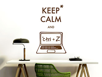 Wandtattoo Keep calm and ctrl + Z