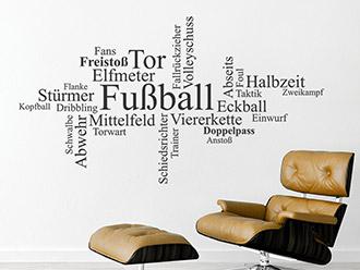 Wandtattoo Fußball Wortwolke