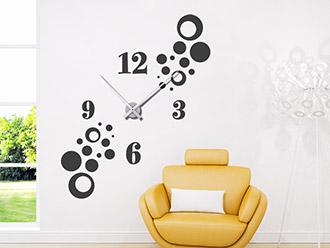 Wandtattoo Uhr Stylische Kreise