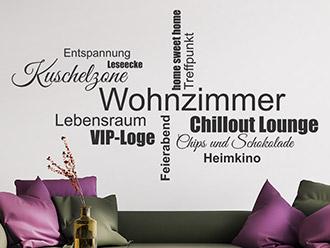 wohnzimmergestaltung mit wandtattoo – flashzoom – menerima, Deko ideen