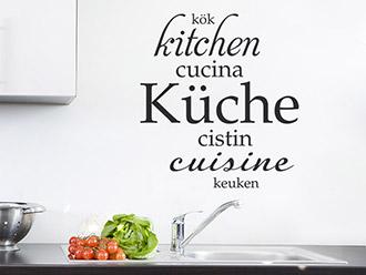 Wandtattoo Küche Sprachen